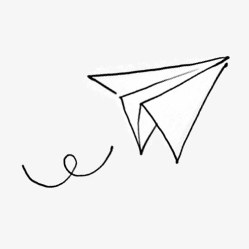 paper airplane clipart png