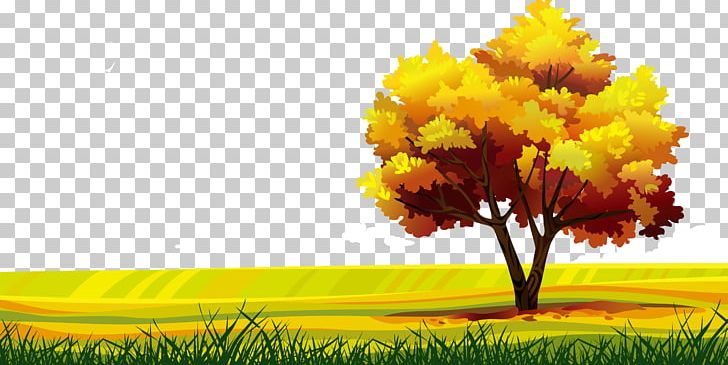 Landscape Drawing Png - Cartoon Landscape Drawing PNG, Clipart, Autumn Leaves, Autumn Tree ...