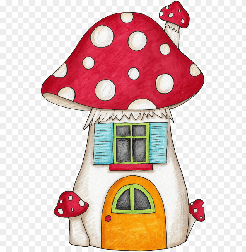 Cartoon Mushroom House Png - cartoon mushroom house drawing PNG image with transparent ...