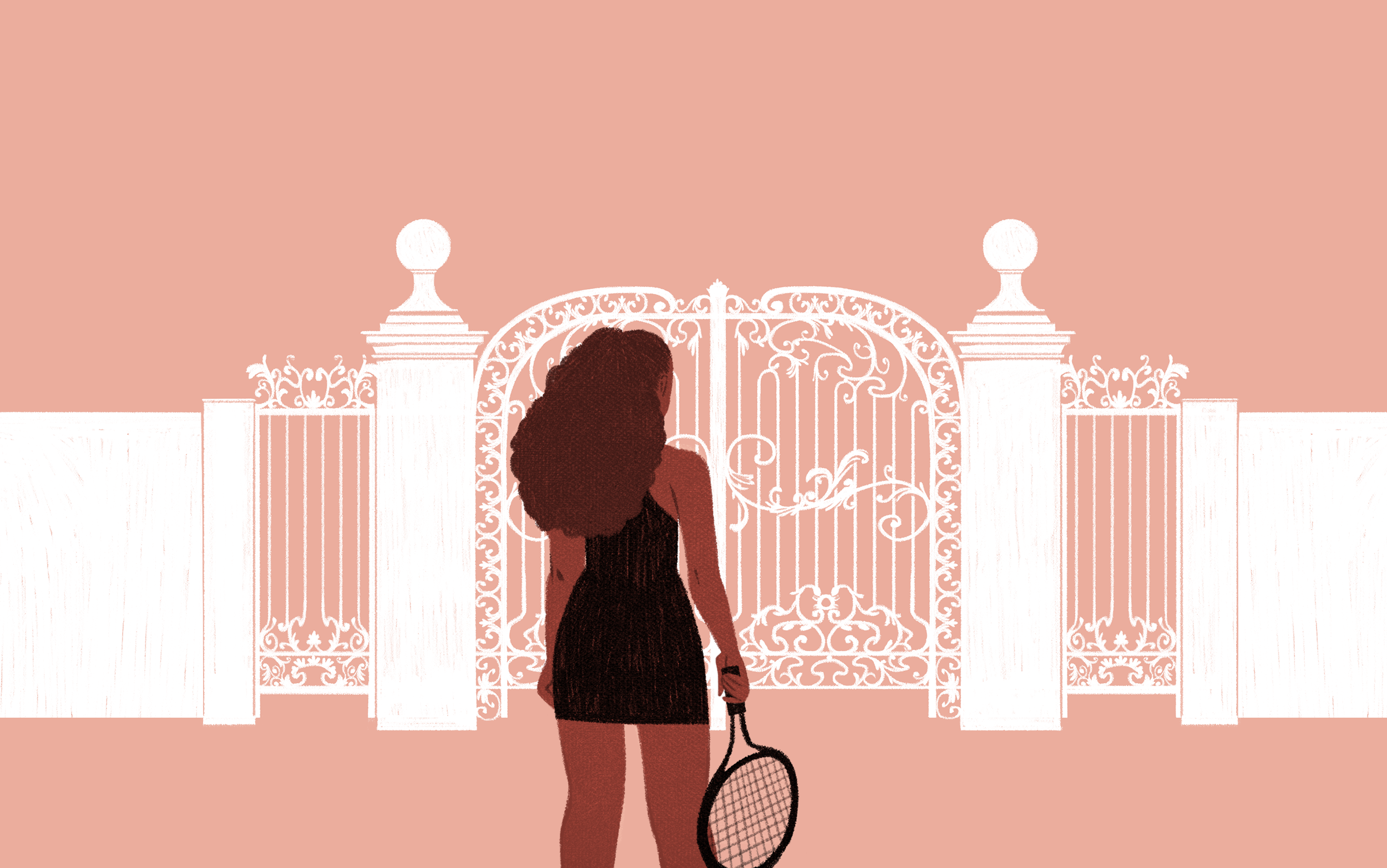 Tennis Racket Png Pink Girl - Cartoon of Serena Williams Proves the Racist, Sexist History of ...