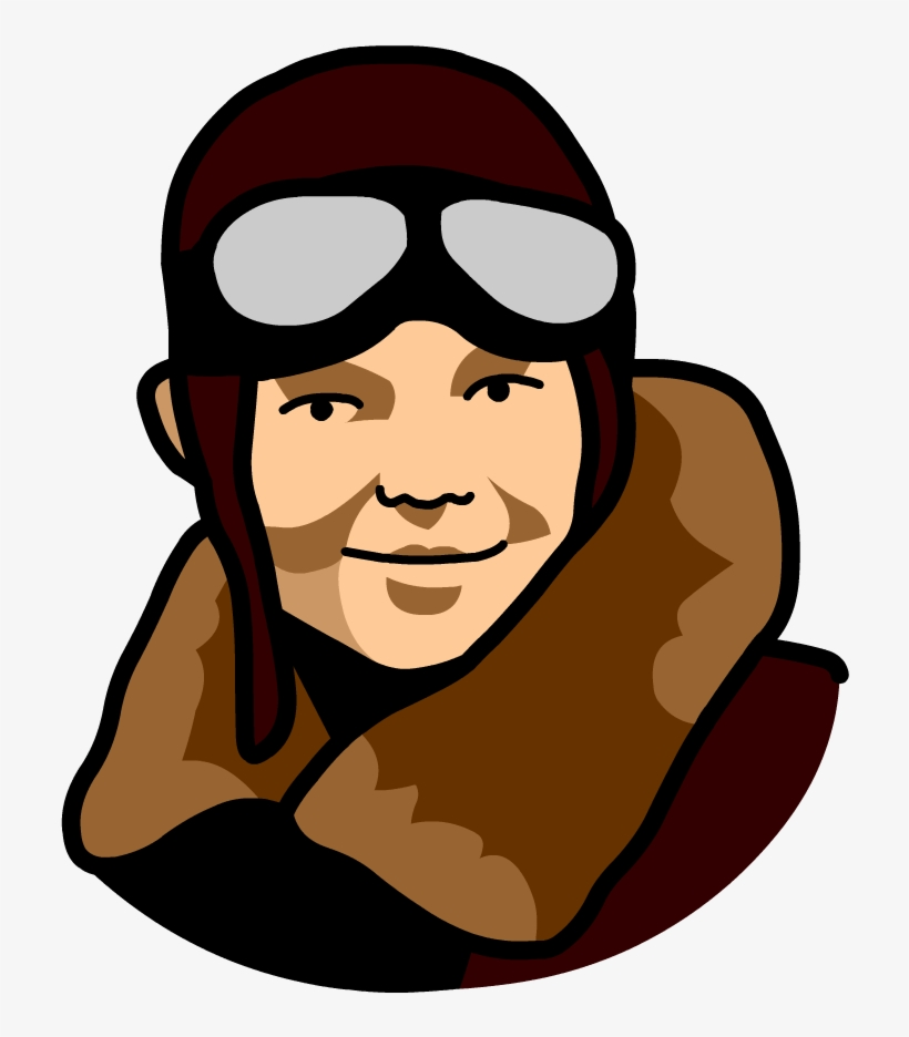 Amelia Earhart Png - Cartoon Pictures Of Amelia Earhart - Free Transparent PNG Download ...
