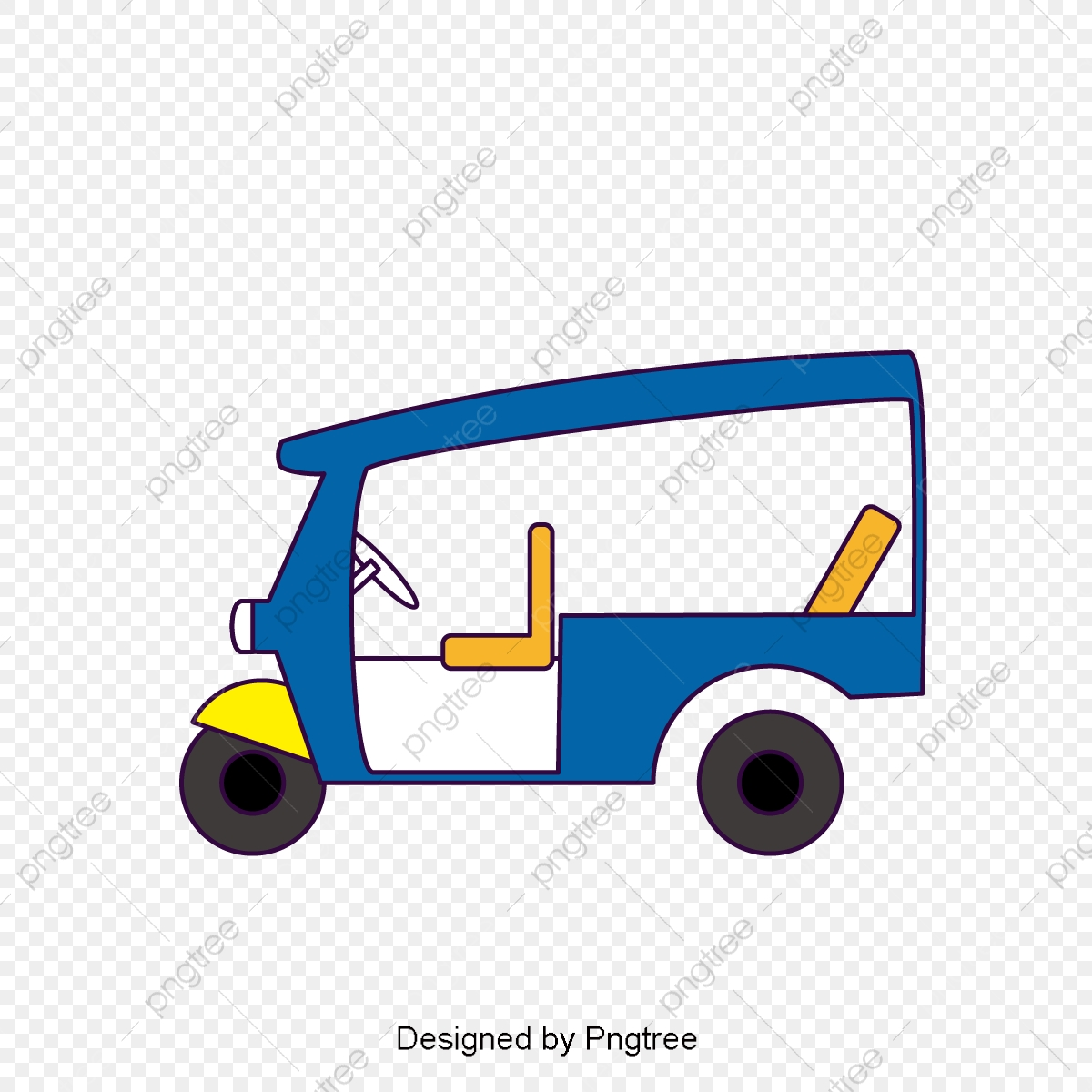 Tricycle Vector Png - Cartoon Tricycle, Vehicle, Tricycle, Sketches PNG and Vector with ...