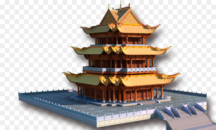Pagoda Temple Png - Castle Cartoon png download - 1000*600 - Free Transparent Japanese ...