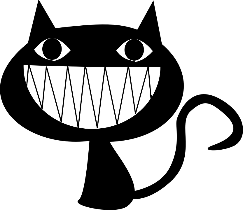 Laughing Cat Png - cat laughing grinning evil teeth psycho animal