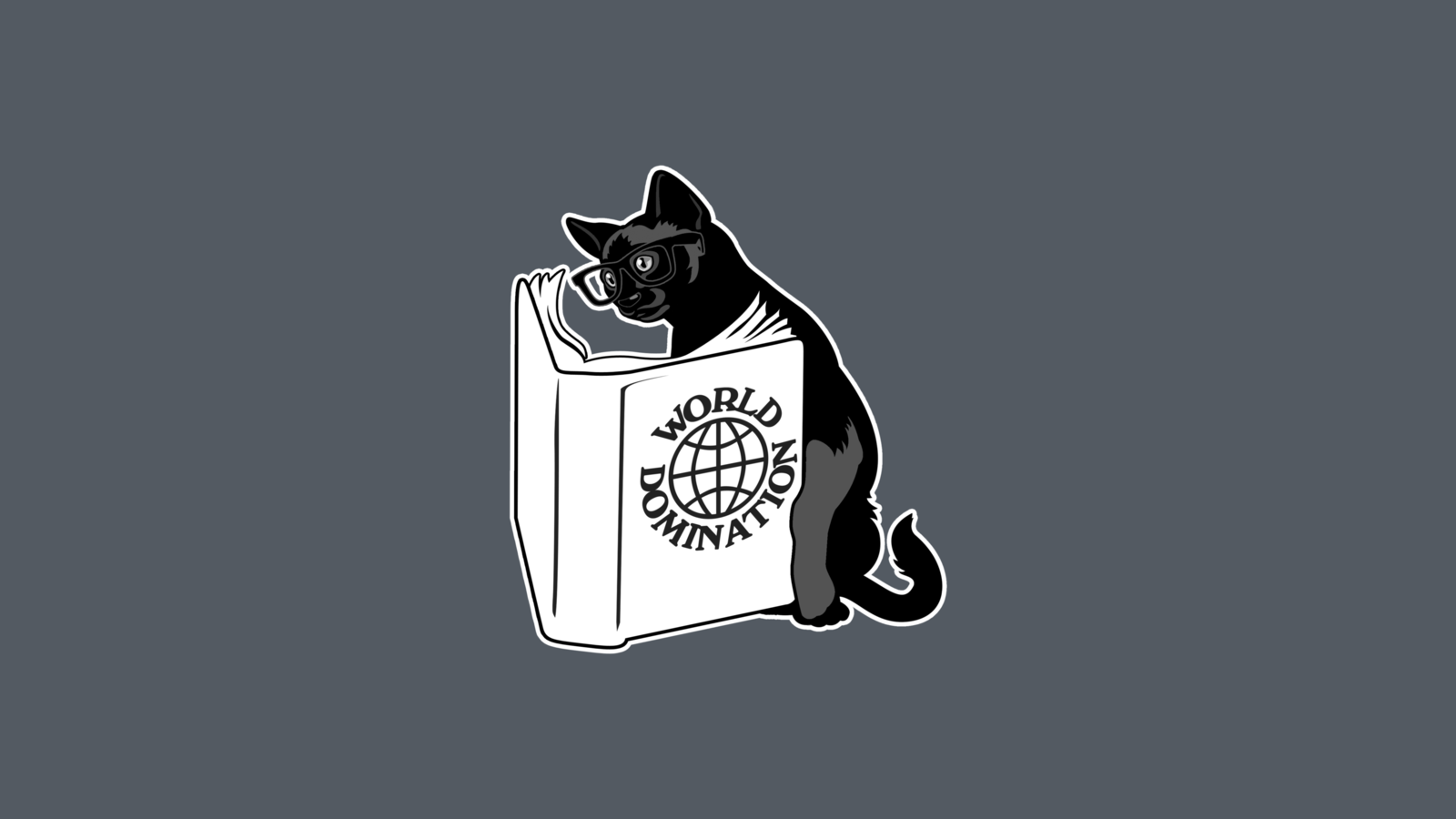 Reading Cat Png - Cat reading a book, gray background wallpapers and images - wallpapers,  pictures, photos