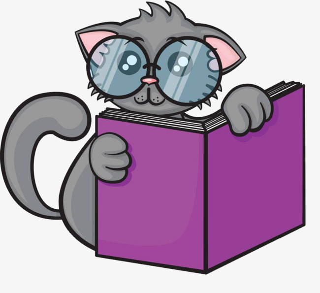 Reading Cat Png - cat reading, Cat Clipart, Reading Clipart, Book PNG Image and Clipart
