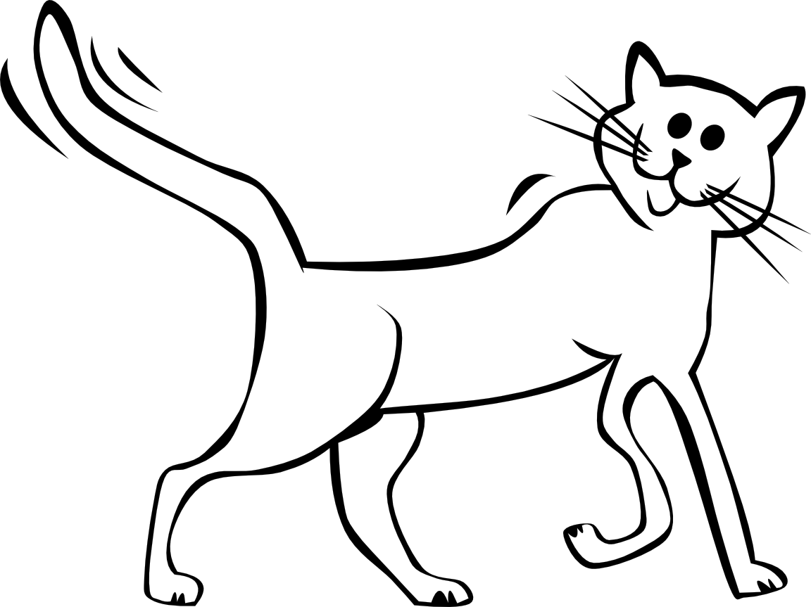 Black And White Cat Drawings Png Free Black And White Cat Drawings Png Transparent Images 142573 Pngio