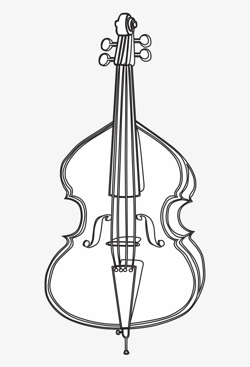 Cello Png Black And White - Cello Black And White Clipart - Cello Drawing - Free Transparent ...