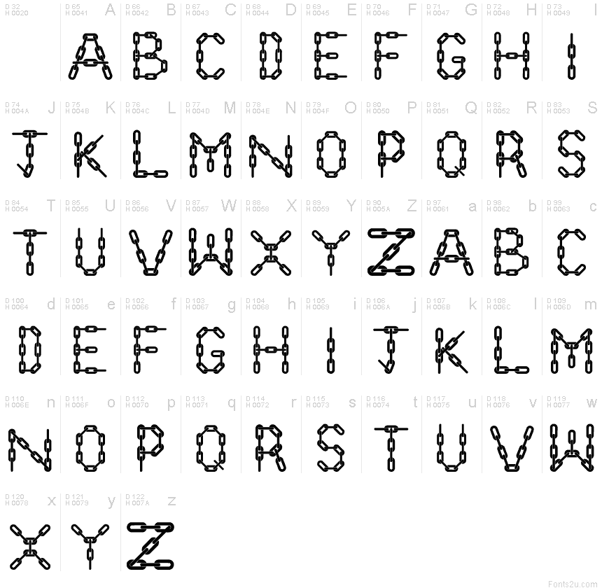 Chain Letter Png - Chain Letters font