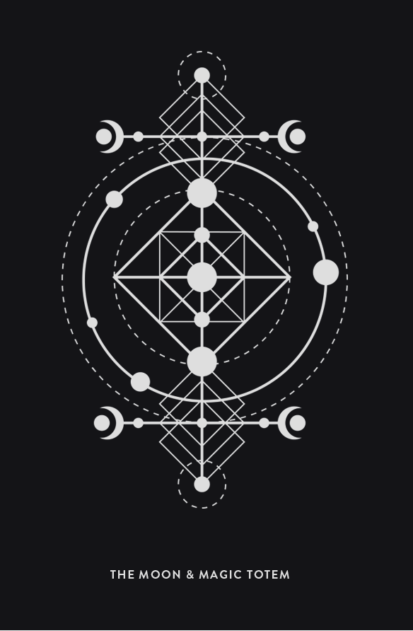 Moon Magic Png - chaosophia218: The Moon and Magic Totem. | Geometric lines, Sacred ...