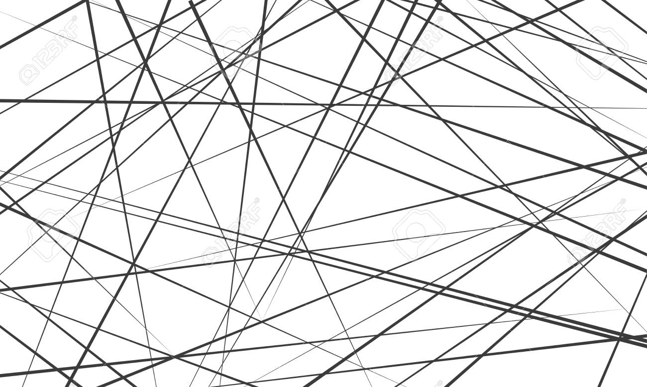 Chaotic Abstract Lines Abstract Geometri 687711 Png