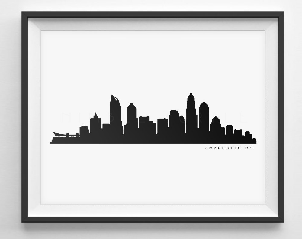 Charlotte Cityscape Drawing Png - Charlotte Nc Skyline Silhouette