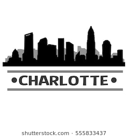 Charlotte Cityscape Drawing Png - Charlotte Skyline Silhouette