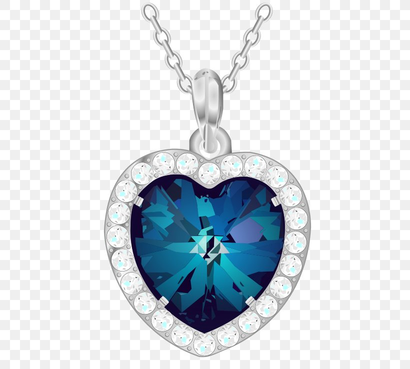 Heart Of The Ocean Png - Charms & Pendants Heart Of The Ocean Clip Art, PNG, 511x738px ...