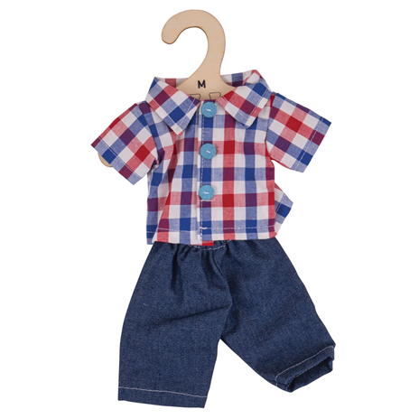 Doll Dress Png Images - Check Shirt & Jeans - for 34cm Doll | Kiddymania
