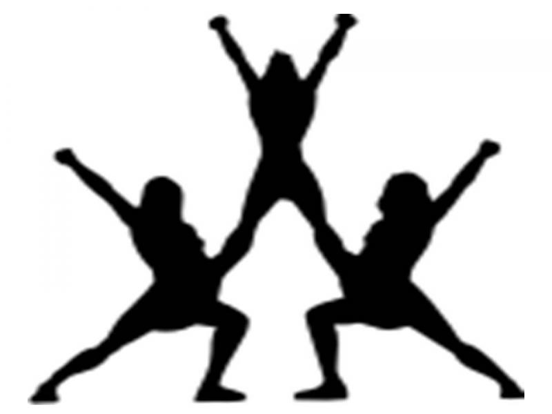 Cheerleading Clipart Black And White Che 141817 Png Images Pngio