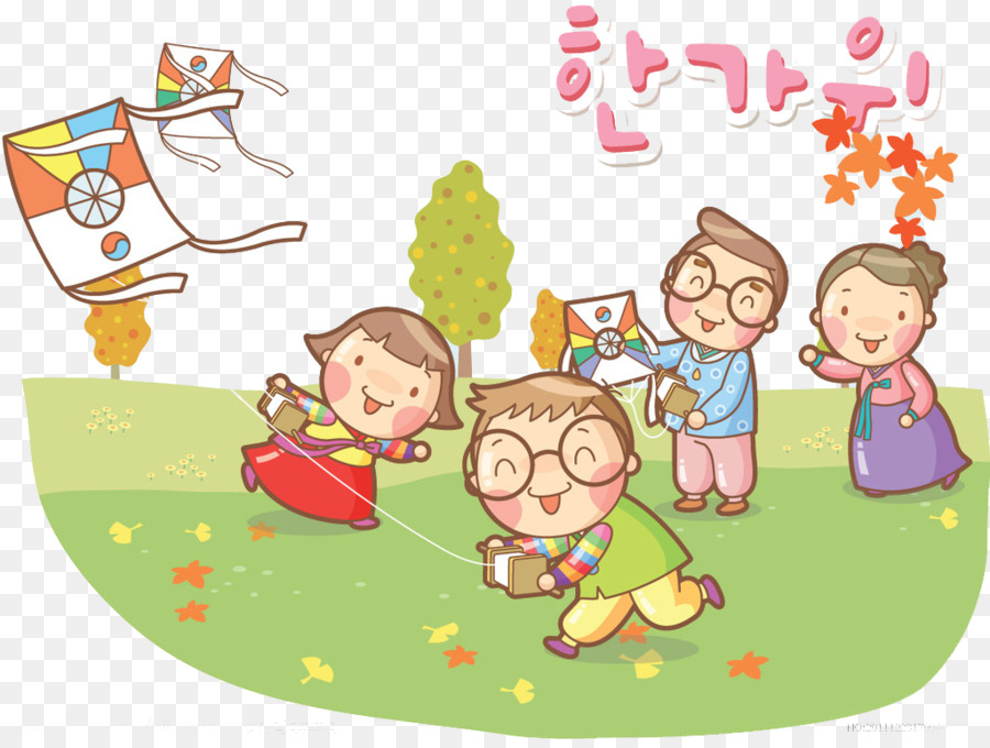 Outing Png - Child Cartoon Kite Illustration - Family outing png download ...