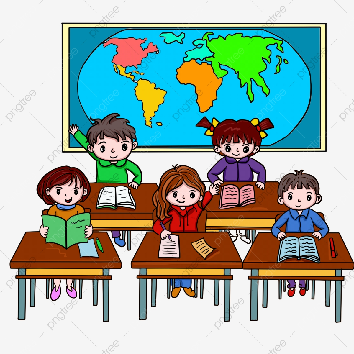 Boy Having Class Png - Child Class, Child, Character, Class Cartoon PNG and Vector with ...