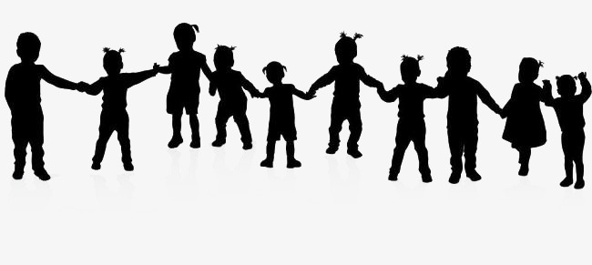 Kids Holding Hands Png Black And White & Free Kids Holding ...