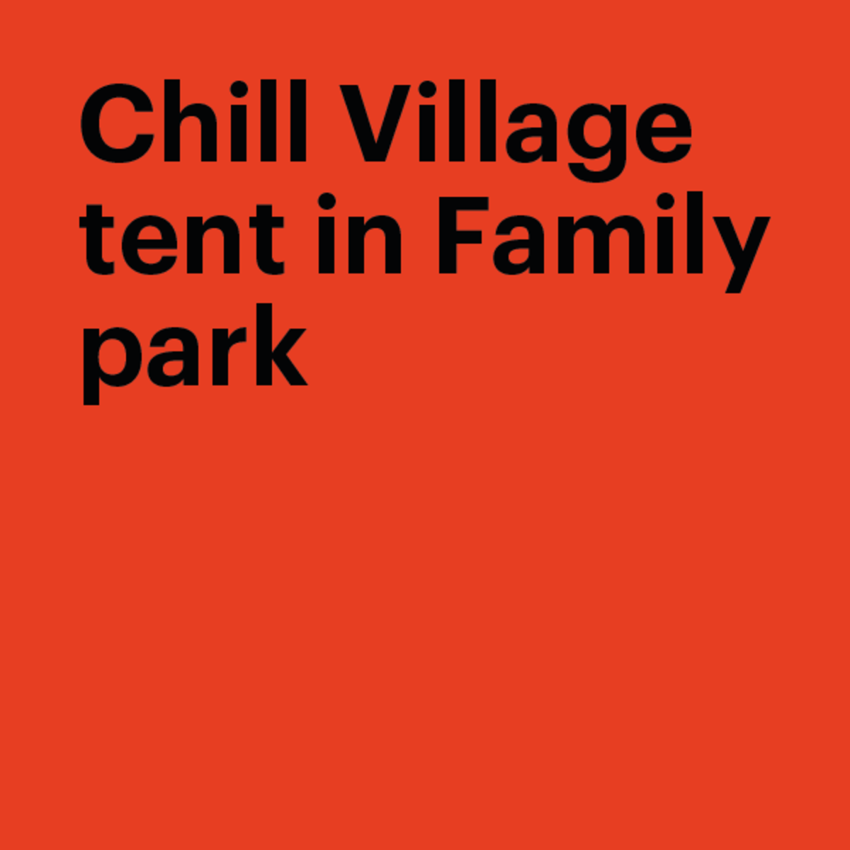 Orange Png Of People At A Park - Chill Village tent in Family Park | Pohoda Festival
