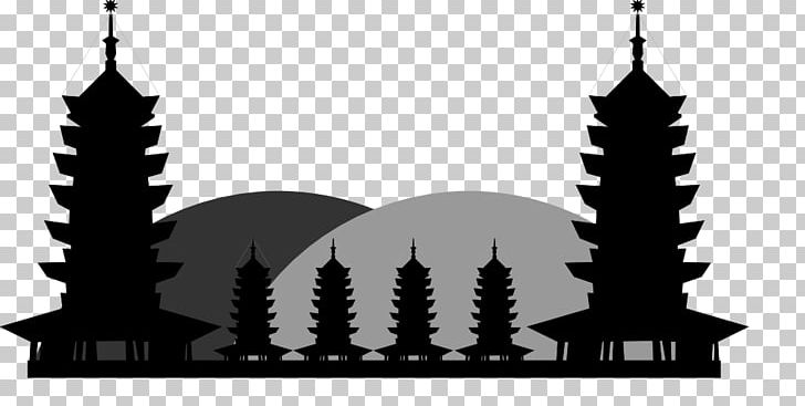 Pagoda Temple Png - China Chinese Pagoda Temple PNG, Clipart, Black And White ...