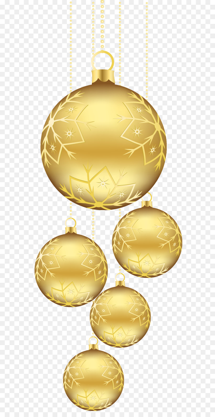 Gold Christmas Ornaments Png Amp Free Gold Christmas
