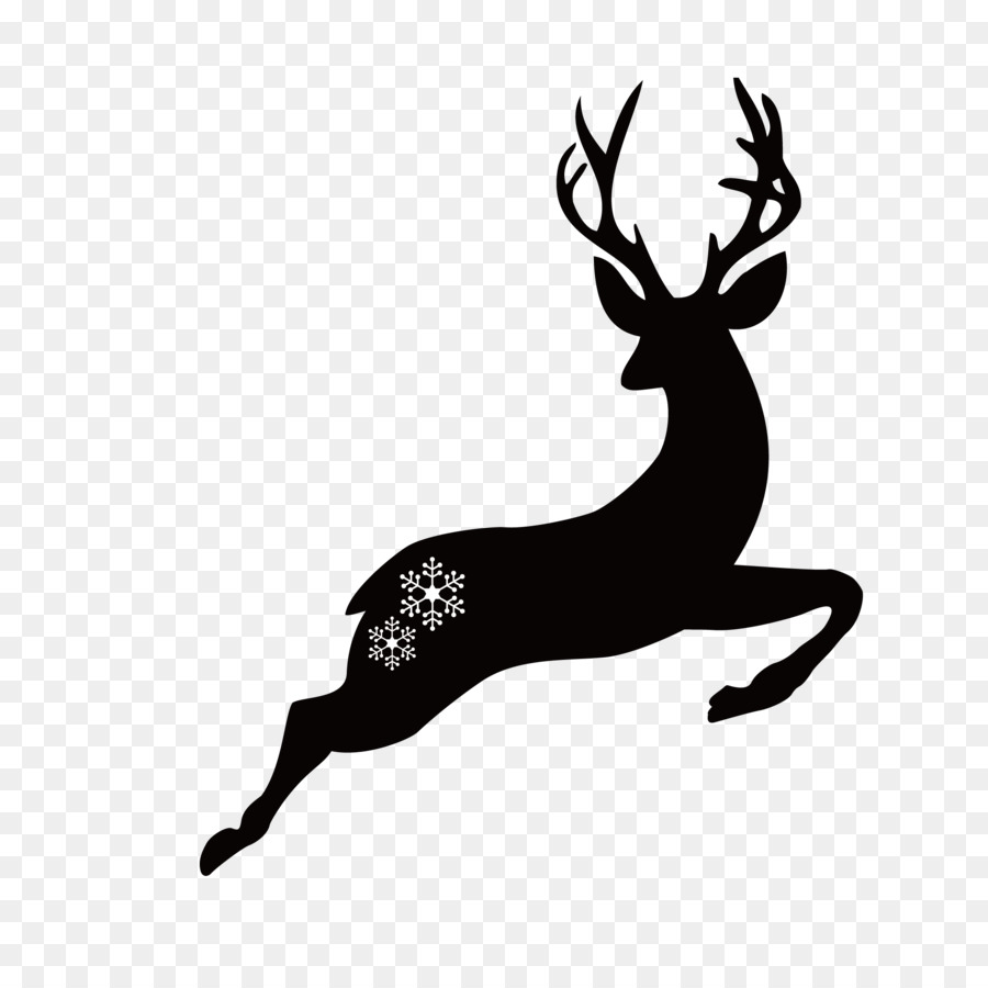 Christmas Deer Png - Christmas Black And White png download - 2083*2083 - Free ...