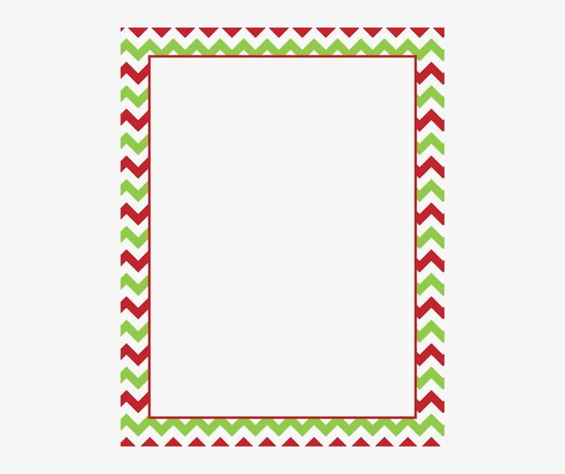 Green Chevron Png - Christmas Border Png Download Image - Red And Green Chevron Border ...