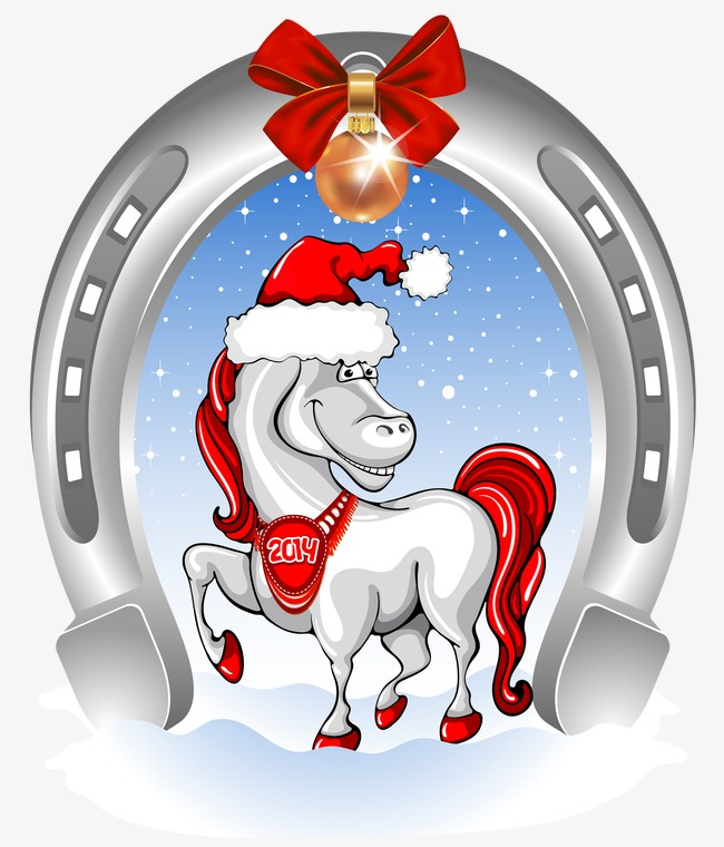 Christmas Horse Cartoon.Christmas Cartoon Horse Cartoon Clipart 158538 Png