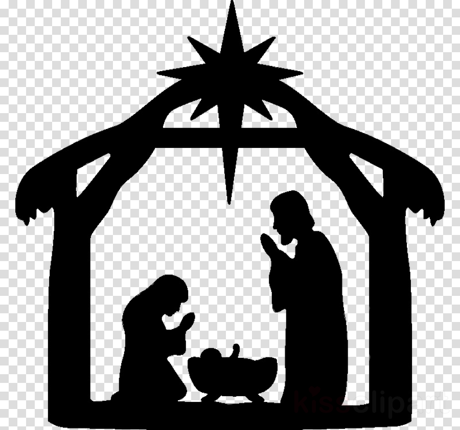 Nativity Scene Silhouette Png - Christmas Clip Art clipart - Silhouette, Graphics, transparent ...