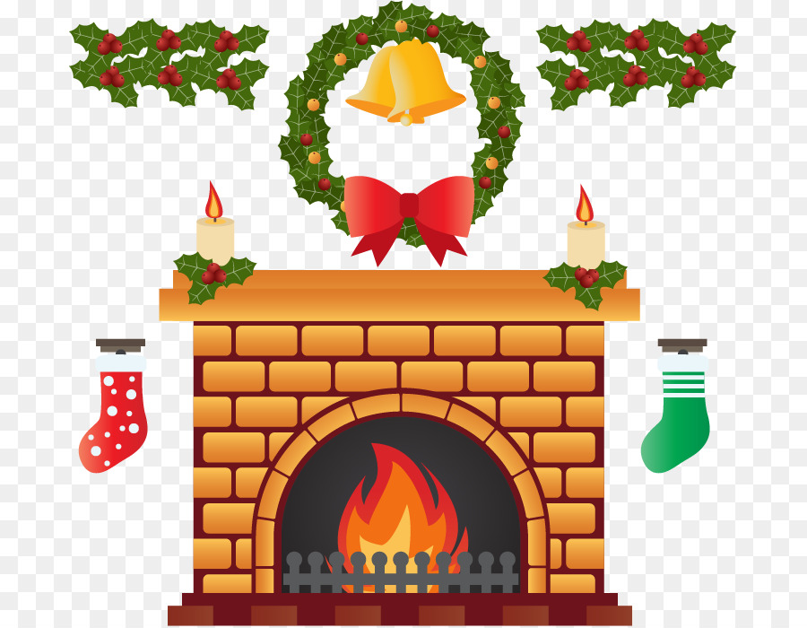 Fireplace Drawing Png - Christmas Decoration Drawing png download - 745*698 - Free ...