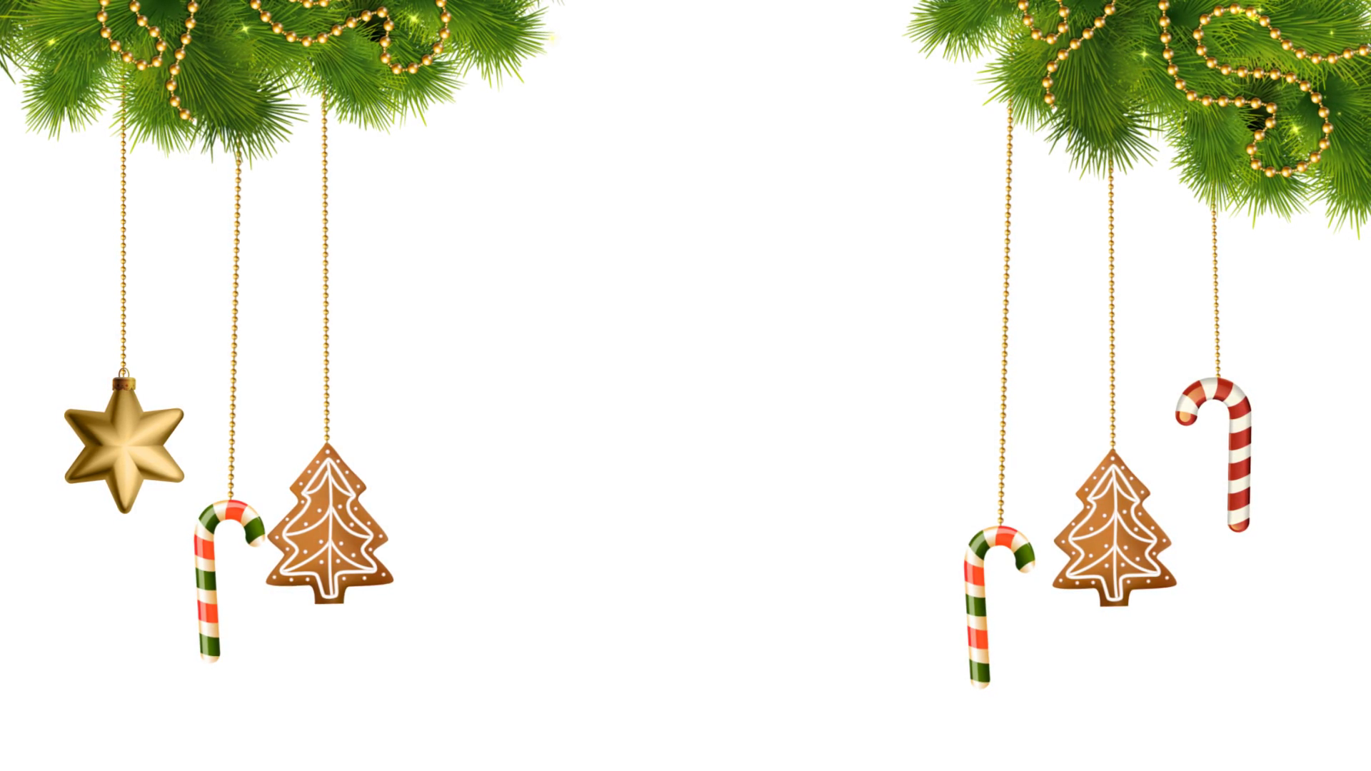 Christmas Decorations And Lights On Tran 800830 Png
