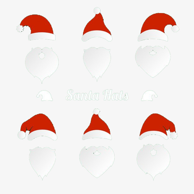 Santa Hat Beard Png - Christmas Hat And Beard, Festival, Decoration, Funny PNG and PSD ...