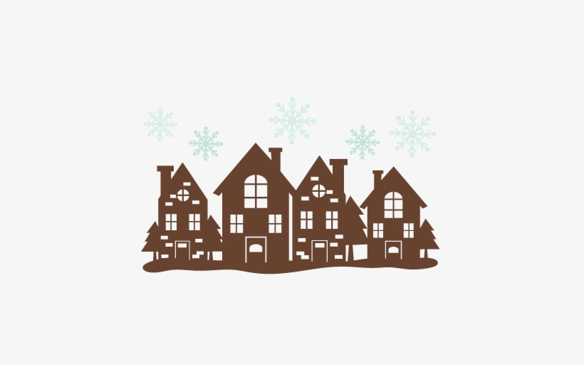 Christmas House Border Svg Cutting Files 2401263 Png Images Pngio