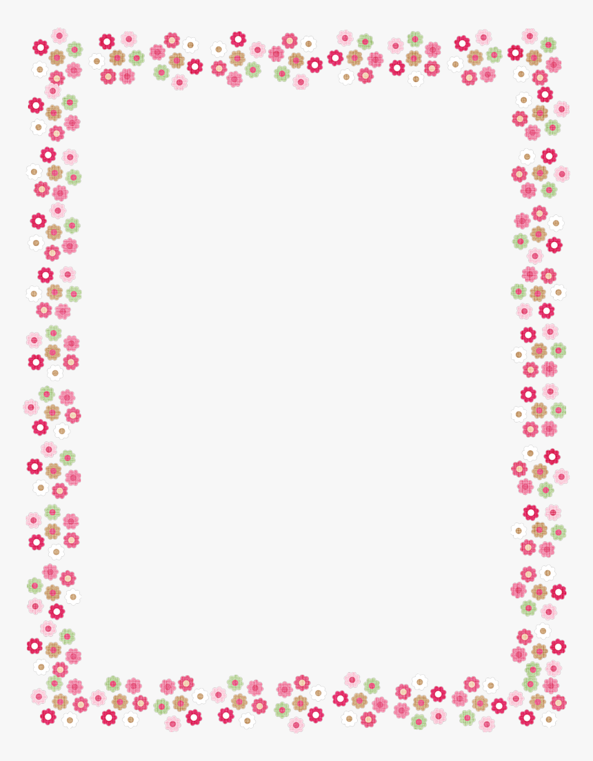Heart Page Border Png - Christmas Light Frame Png - Pink Heart Page Border, Transparent ...