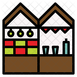 Christmas Market Icon Of Colored Outline 1213294 Png Images Pngio