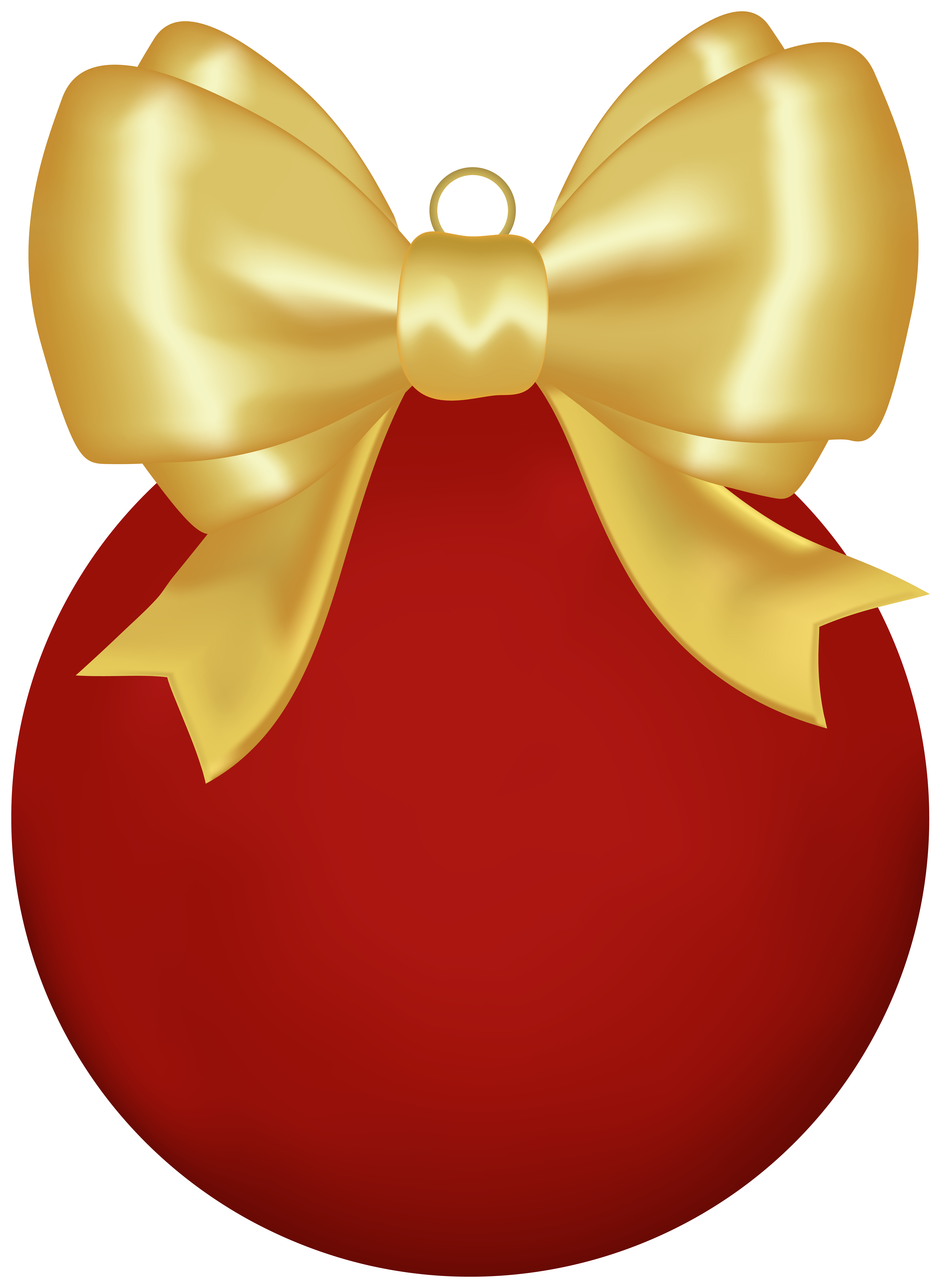 Christmas Red Ball Png - Christmas Red Ball with Bow PNG Clipart | Gallery Yopriceville ...