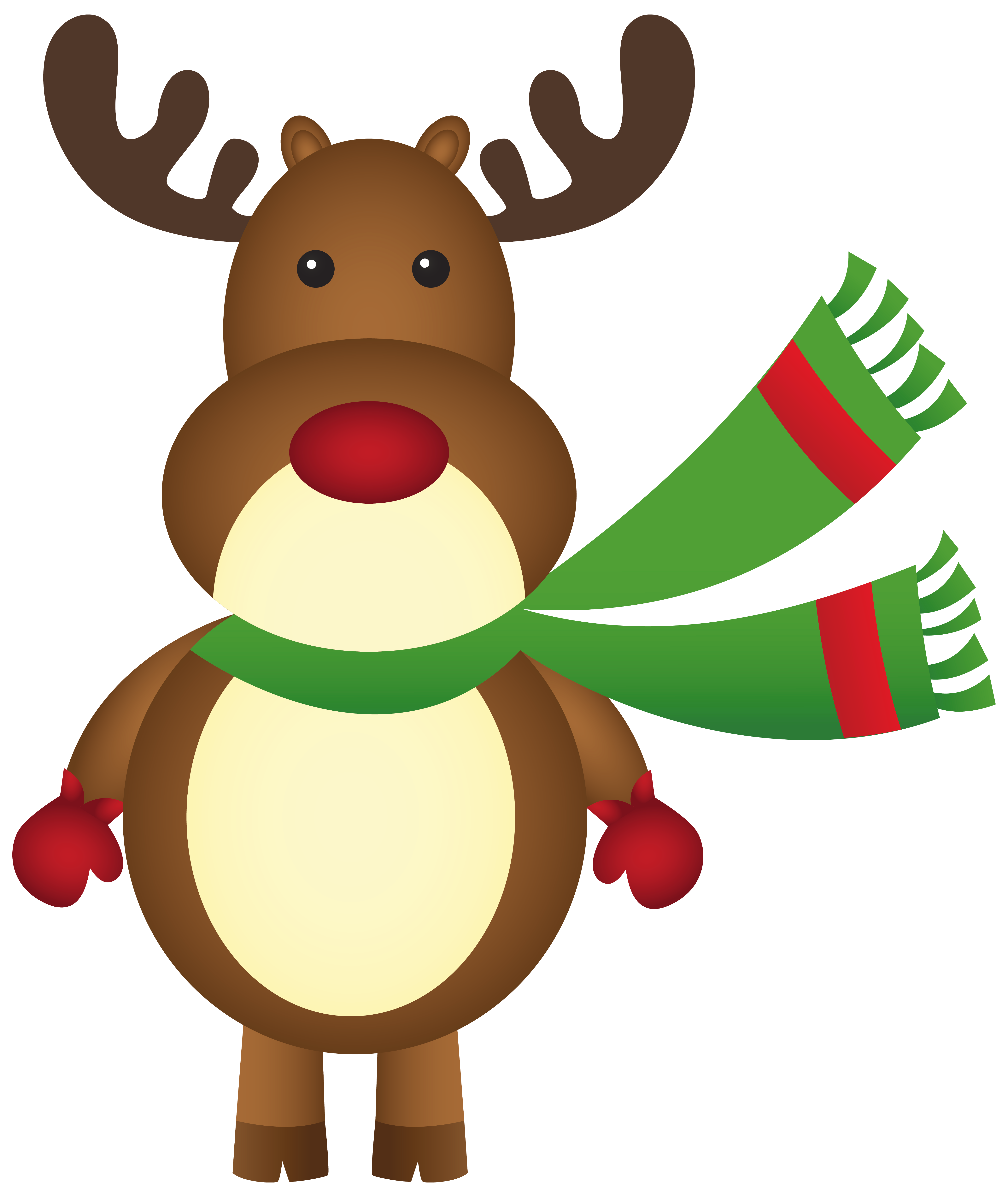 Christmas Rudolph Png - Christmas Rudolph with Scarf PNG Clipart Image | Gallery ...