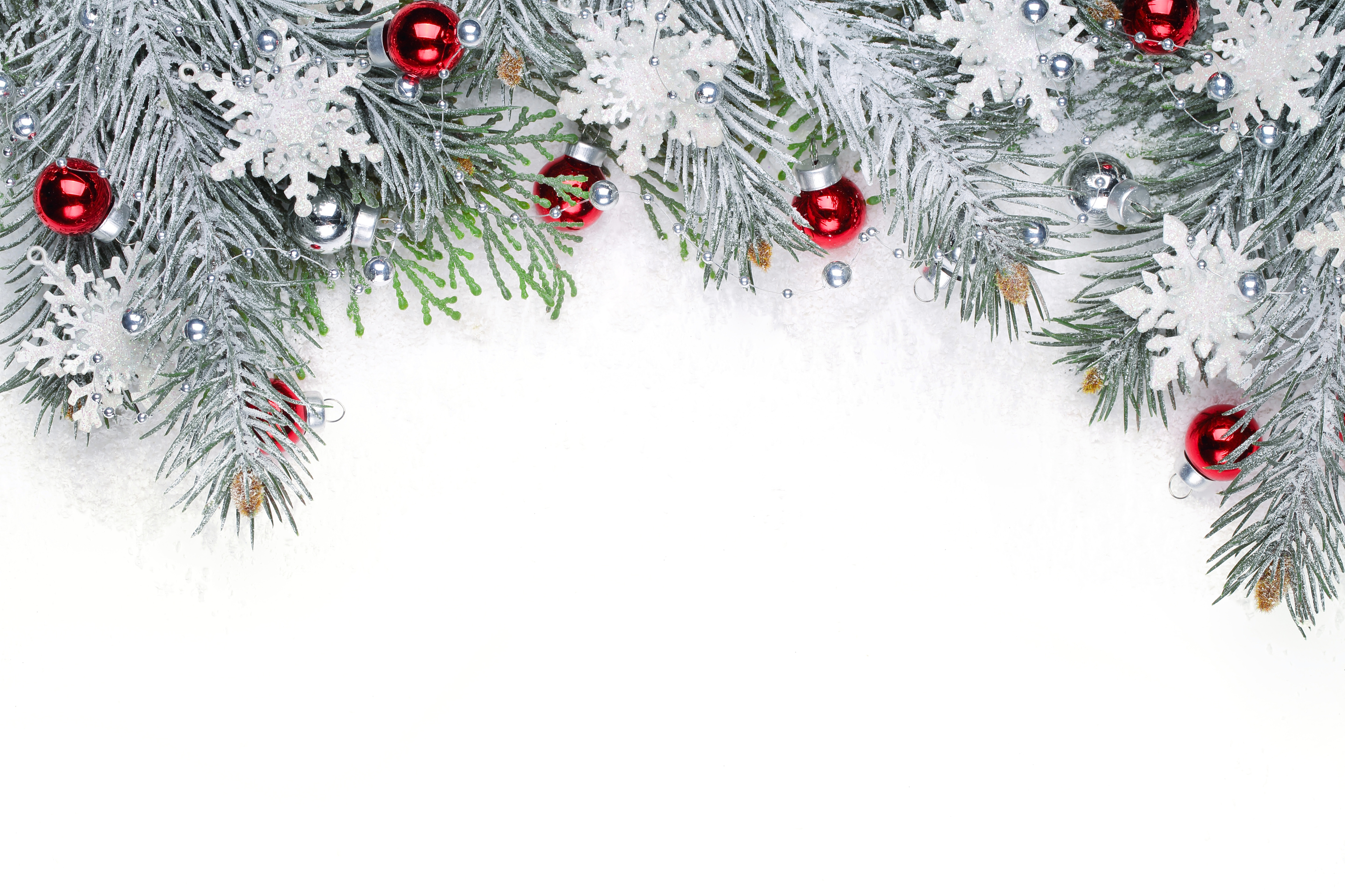 Snowy Christmas Backgrounds Png - Christmas Snowy Background with Red Ornaments | Gallery ...