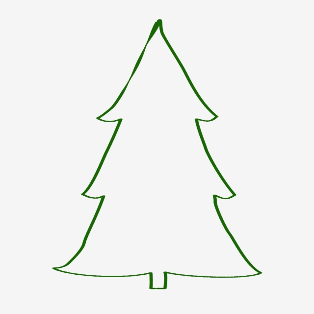 Christmas Tree Outline Png \u0026 Free Christmas Tree Outline.png