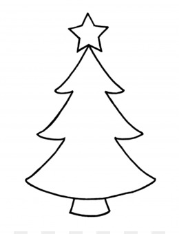 Christmas Tree Outline.Christmas Tree Outline Png And Christmas 644370 Png