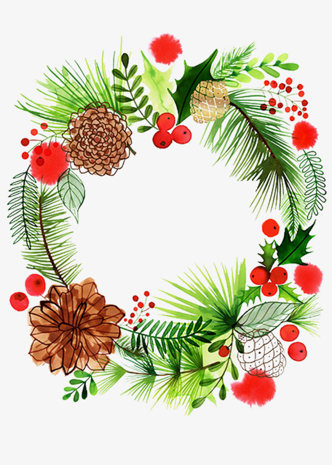 Christmas Garland Png - Christmas Wreath Png, Vector, PSD, and Clipart With Transparent ...