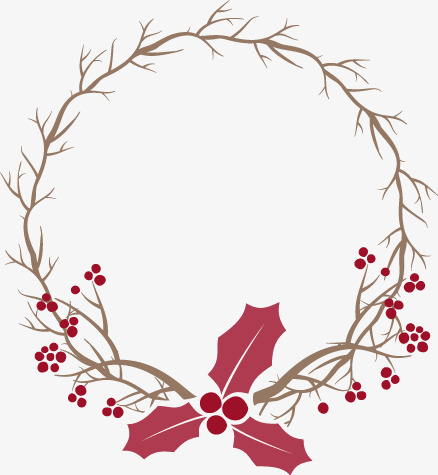 Christmas Wreath Vector.Christmas Wreath Vector Material Branch 156096 Png