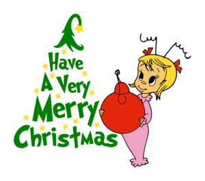"""Cindy Lou Who Png - Cindy Lou Who """"Have A Very Merry Christmas!"""" Digital DXF 