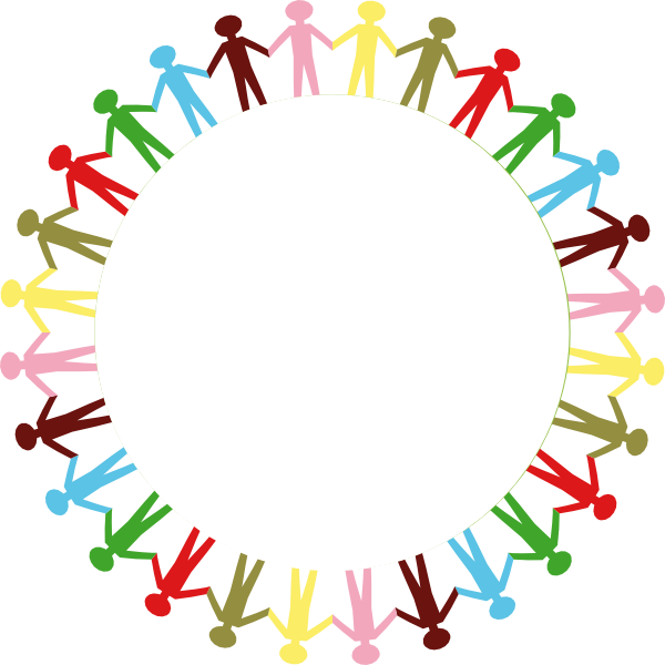 Circle Of People Holding Hands Png - Circle Holding Hands Stick People Multi Coloured Clip Art at Clker ...