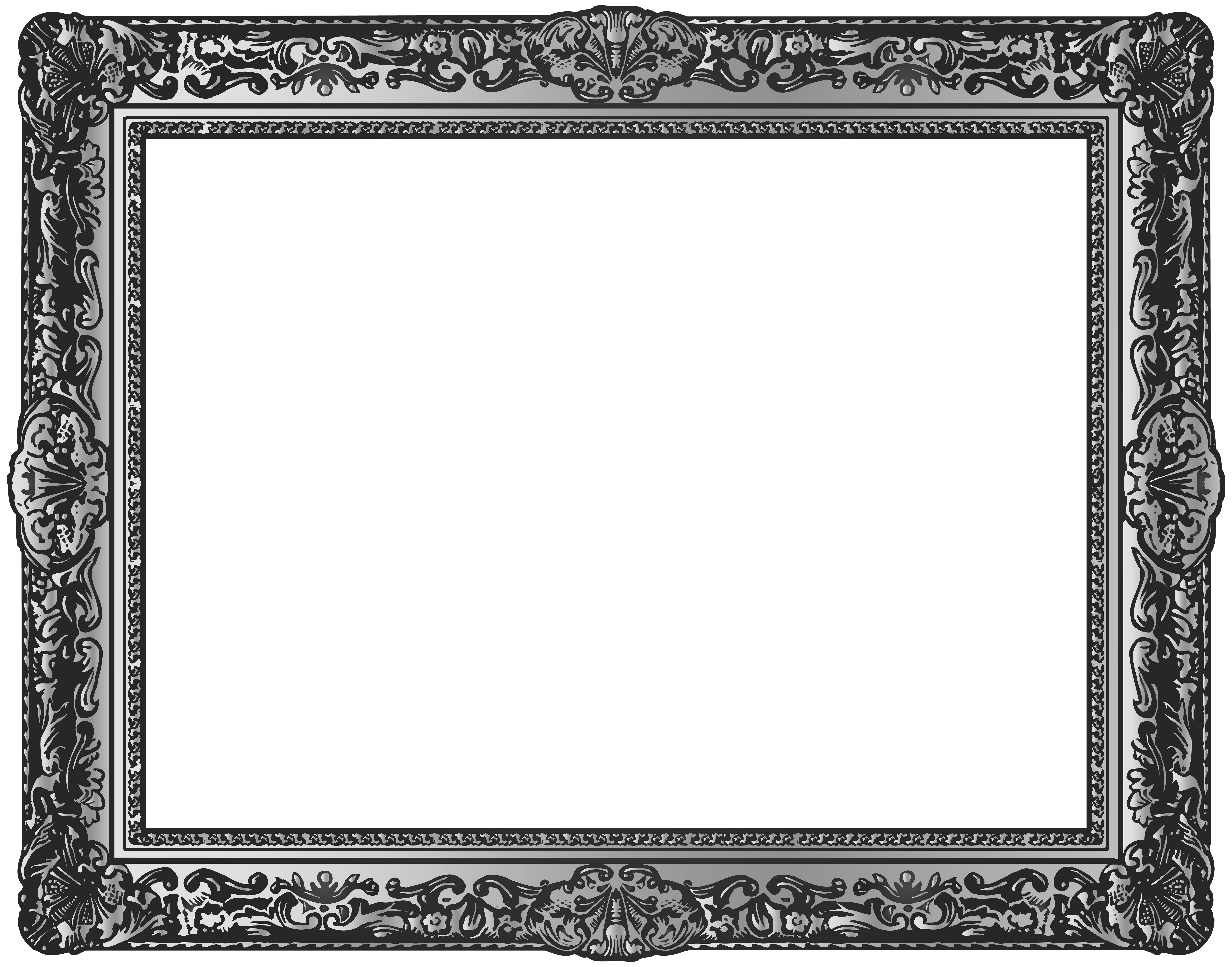 Silver Picture Frame Png & Free Silver Picture Frame.png ...
