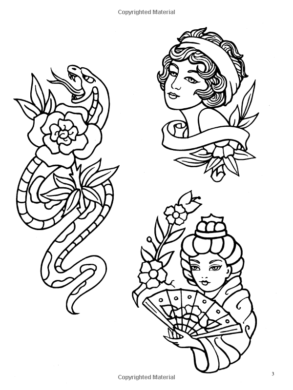 Tattoo Flash Coloring Pages Png Free Tattoo Flash Coloring Pages Png Transparent Images 133287 Pngio