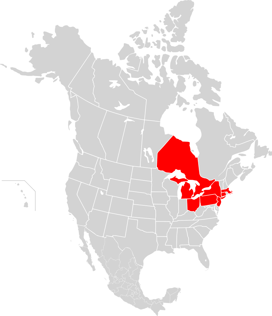 North America Map Png - Click on the Map of North America, Blackout 2003 ...