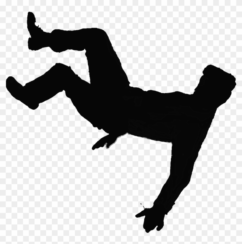 Free Png Person Falling - Clip Art Image Of Guy Slipping And Falling Clipart - Silhouette Of ...