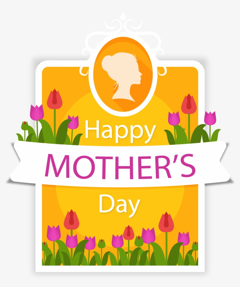 Mothers Day Greetings Png - Clip Art Purple Tulip Mother S - Mother's Day Card Png Transparent ...